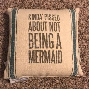 💙 Primitives By Kathy Mermaid Pillow Brand New